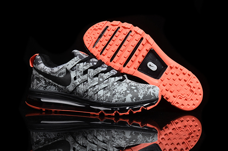 2016 Nike Fingertrap Max NRG Camo Reflective Silver Black-Dark Grey-Clear Grey