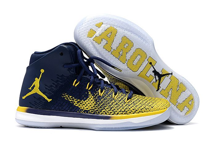 2017 Air Jordan 31 XXXI Michigan Iconic Blue-Yellow For Cheap