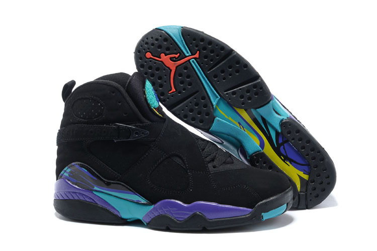 2017 Air Jordan 8 Retro Black Dark Concord-Anthracite-Aqua Tone For Sale