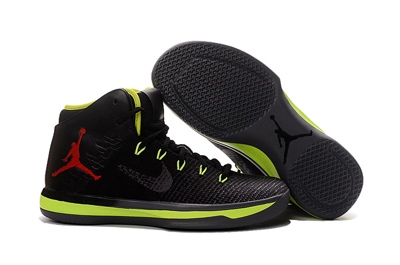 2017 Air Jordan XXX1 Black Green Red Basketball Shoes