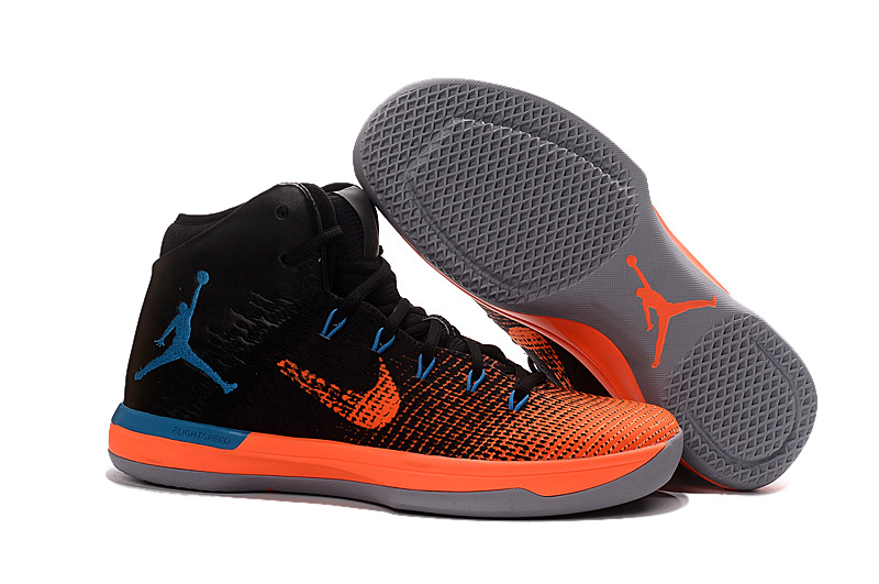 2017 Air Jordan XXX1 Black Orange Blue Basketball Shoes
