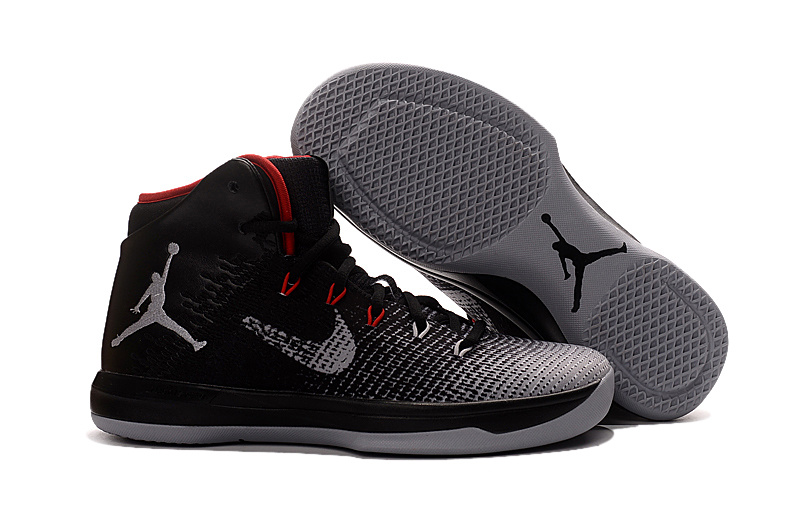 2017 Air Jordan XXX1 Black Red-Wolf Grey Basketball Shoes