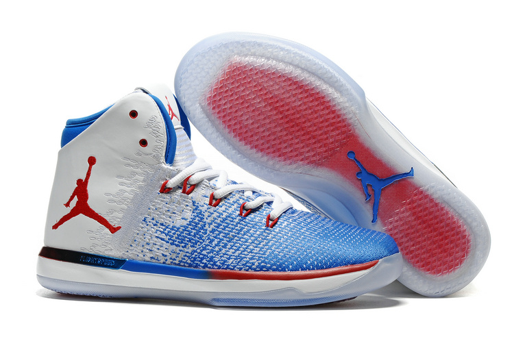 2017 Air Jordan XXXI Olympics USA White Deep Royal Blue University Red