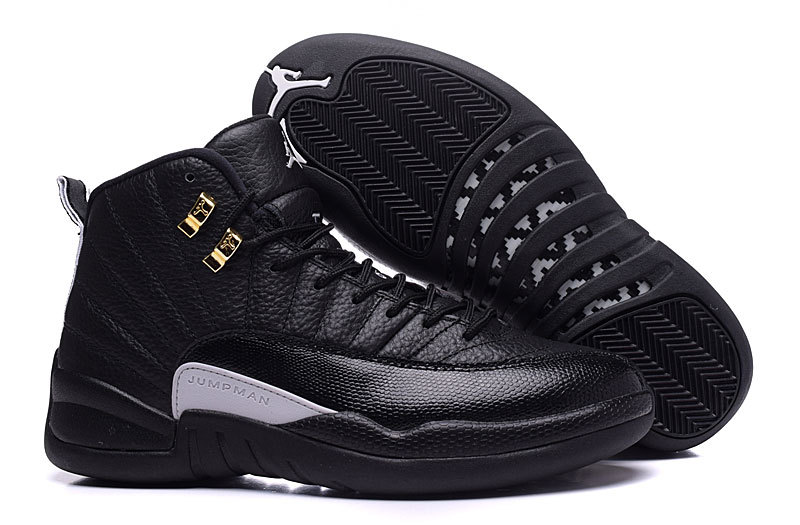 2017 Air Jordans 12 The Master Black Rattan-White-Metallic Gold