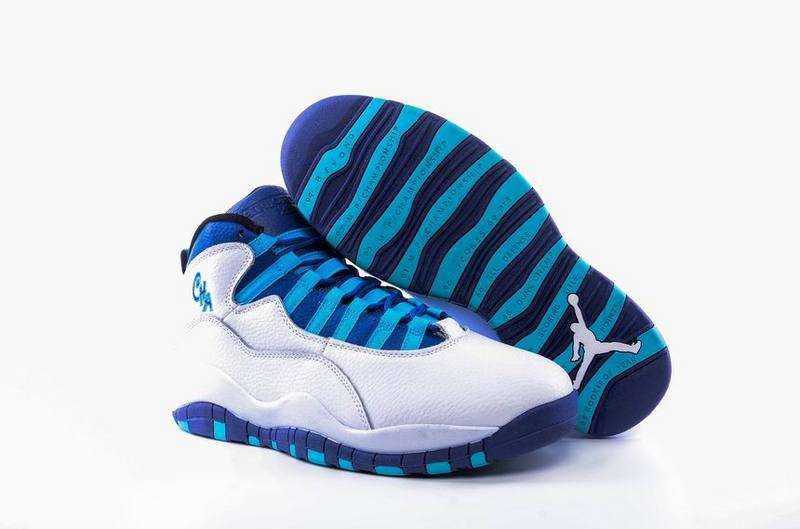 2017 Cheap Air Jordan 10 Charlotte Hornets White Concord-Blue Lagoon-Black