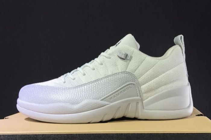 2017 Cheap Air Jordan 12 Retro Low Georgetown Wolf Grey Armory Navy