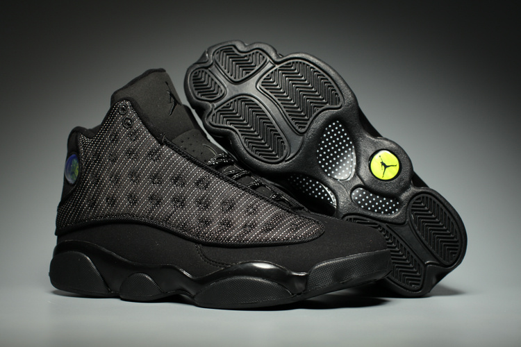 cd0d71a22771 2017 Cheap Air Jordan 13 Black Cat Anthracite-Black Shoes For Sale ...