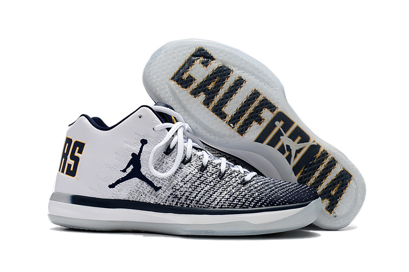 2017 Cheap Air Jordan 31 Low Cal Bears White Amarillo-College Navy For Sale