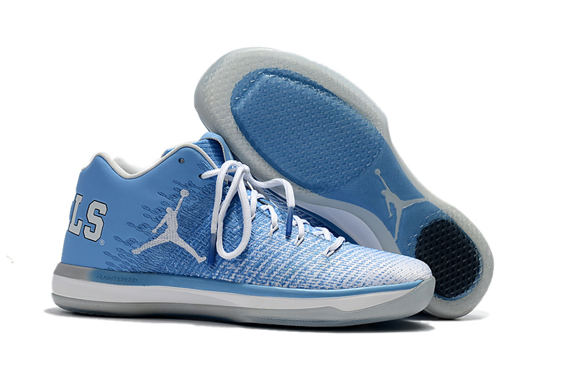 2017 Cheap Air Jordan 31 Low UNC Blue White-College Navy For Sale