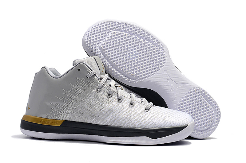 2017 Cheap Air Jordan 31 Low White Gold For Sale