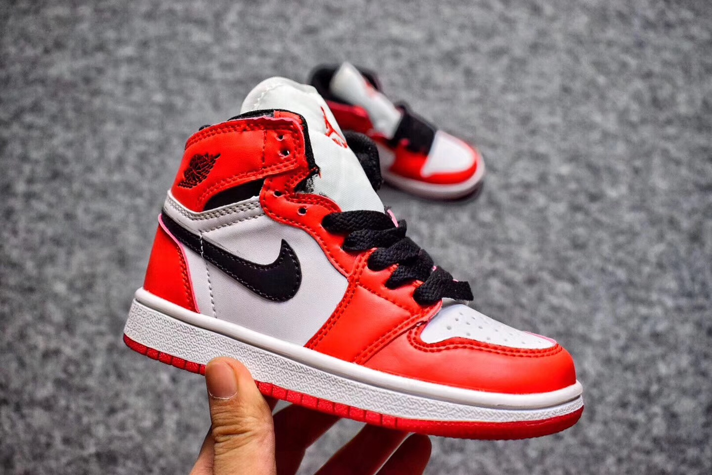 2017 Cheap Kids Air Jordan 1 Chicago White Varsity Red-Black For Sale