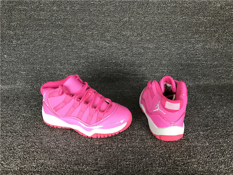 2017 Cheap Kids Air Jordan 11 Pink Everything Sneakers For Sale