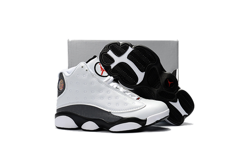 2017 Cheap Kids Air Jordan 13 Love Respect White For Sale