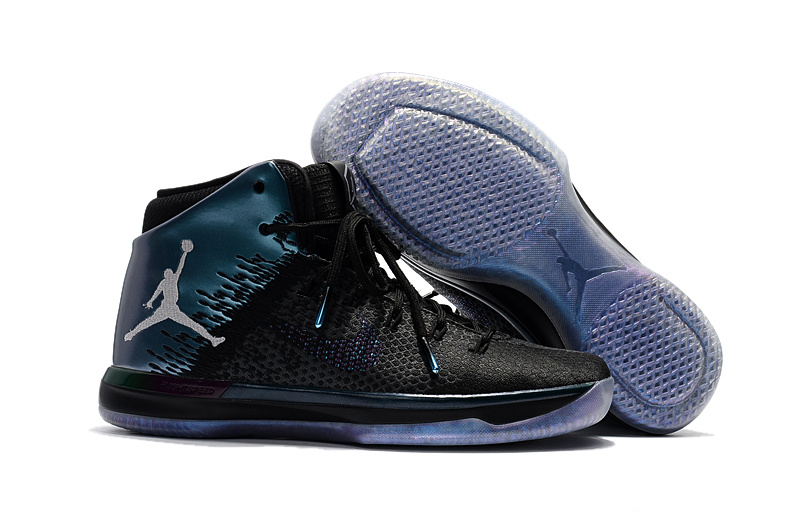 2017 Cheap Mens Air Jordan 31 All-Star Black Metallic Silver-Black