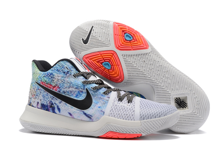 2017 Cheap Nike Kyrie 3 Effect Multi-Color White-Black For Sale