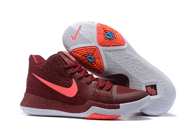 2017 Cheap Nike Kyrie 3 Team Red Hot Punch-White Free Shipping