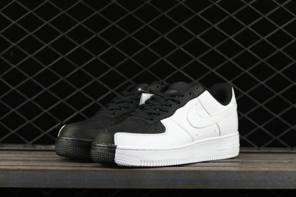 Cheap 2017 Nike Air Force 1 Low Split Black White For Sale