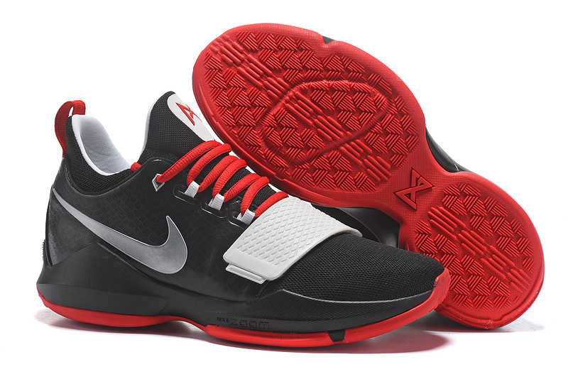2017 Nike Zoom PG 1 Black Red White For Sale