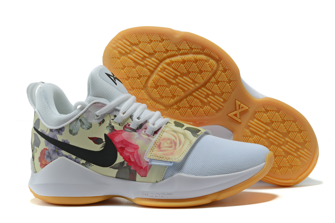 2017 Nike Zoom PG 1 Floral Print White For Sale
