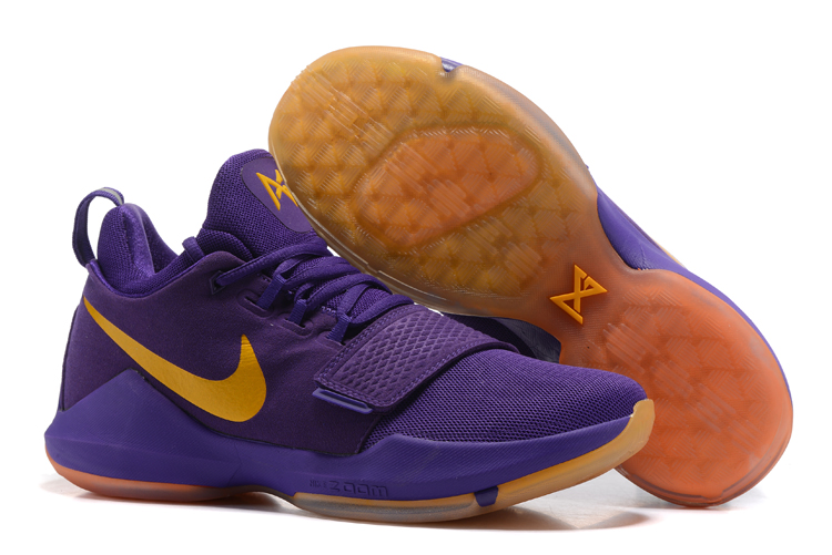 2017 Nike Zoom PG 1 Lakers Purple Yellow For Sale