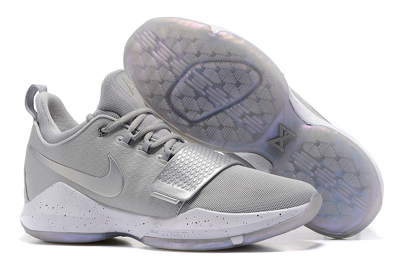 2017 Nike Zoom PG 1 Silver Grey For Sale