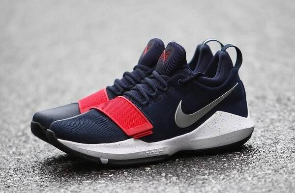 2017 Nike Zoom PG 1 USA Game Royal White-Black For Sale