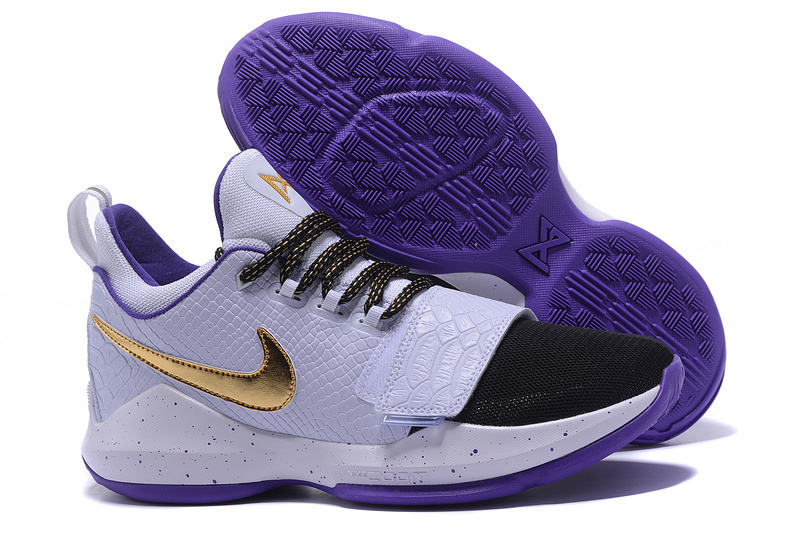 2017 Nike Zoom PG 1 White Black Purple Gold For Sale