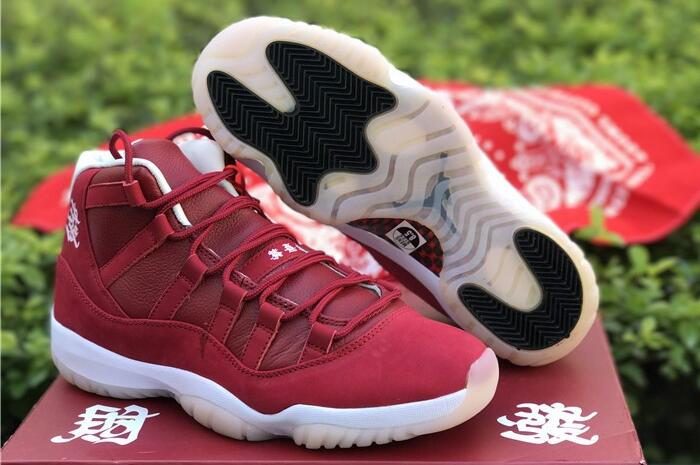 1414d8d0c2e0 2018 Air Jordan 11 CNY Chinese New Year All-Red and White Midsole ...