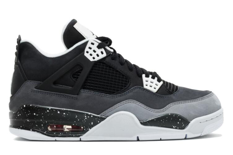 2018 Air Jordan 4 Fear Black White-Cool Grey-Pure Platinum For Sale