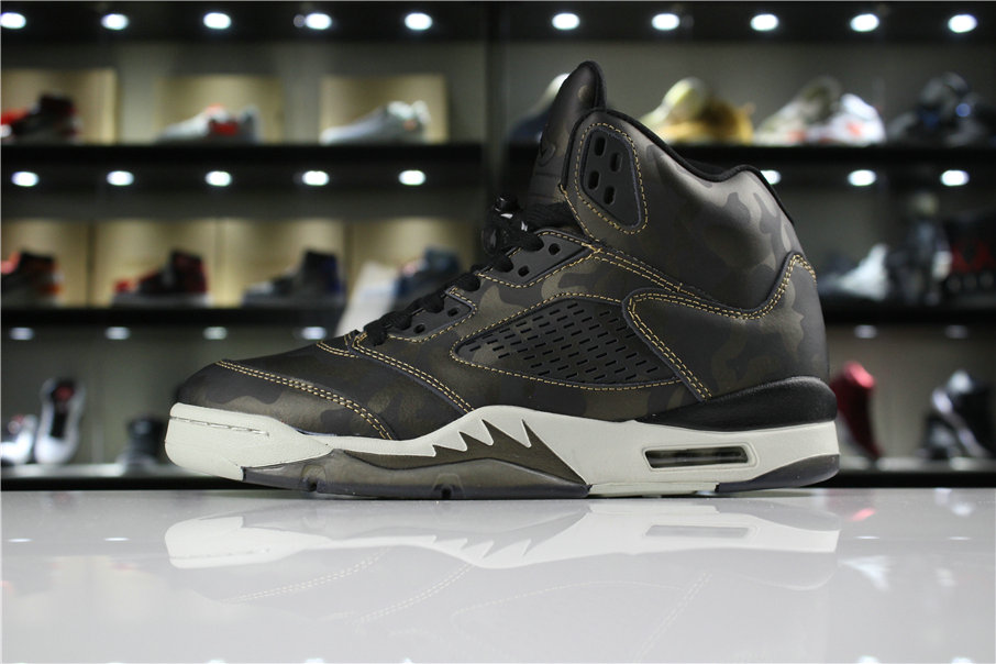 Cheap 2018 Air Jordan 5 Premium Heiress Metallic Field Camo 919710-030 For Sale