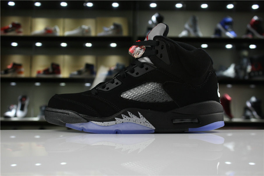 Cheap 2018 Air Jordan 5 Retro OG Metallic Black Black Fire Red-Metallic Silver 845035-003