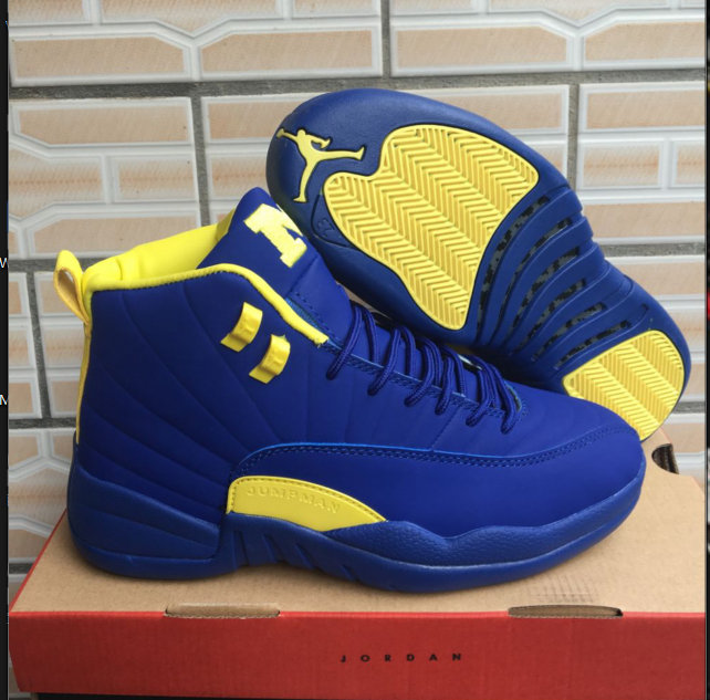2018 Air Jordan Shoes x Cheap Nike Air Jordan 12 Michigan