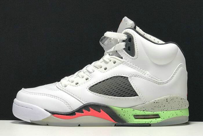 Cheap 2018 Buy Air Jordan 5 Retro ProStars WhiteInfrared 23-Light Poison Green-Black 136027-115