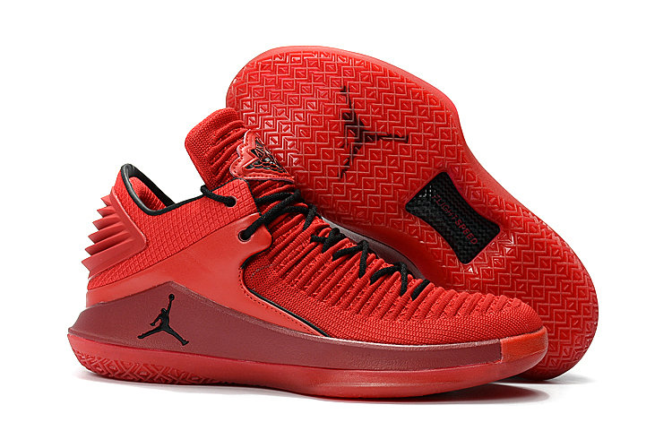 2018 Cheap Air Jordan Retro 32 All Red Black