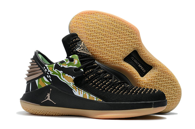 2018 Cheap Air Jordan Retro 32 Gold Black