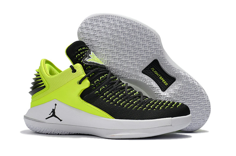 2018 Cheap Air Jordan Retro 32 Green Black White