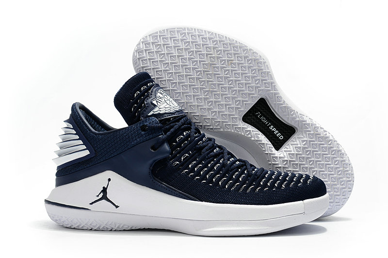 2018 Cheap Air Jordan Retro 32 Navy Blue White