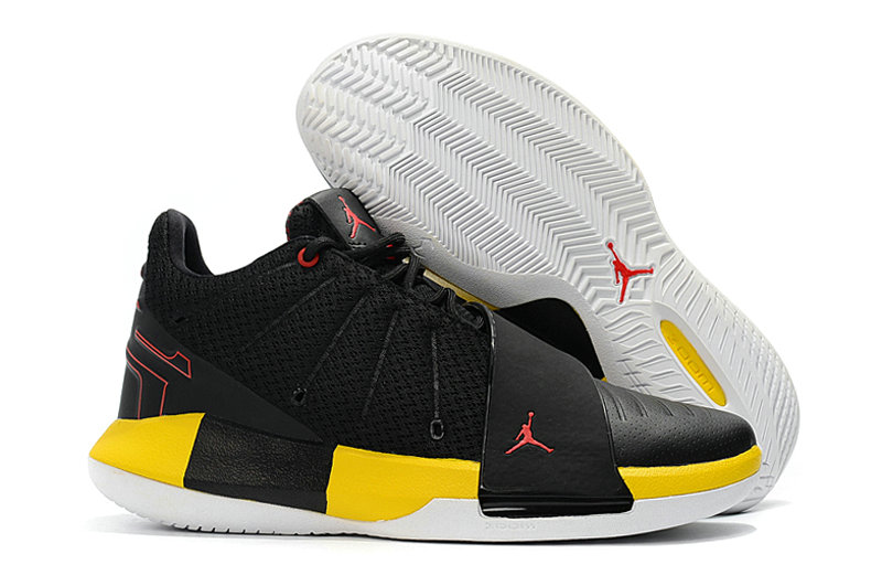 2018 Cheap Nike Air Jordan CP3 XI Yellow Black Red Cheap Sale