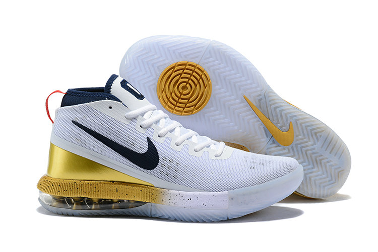 2018 Cheap Nike Air Max Dominate Gold White Navy Blue