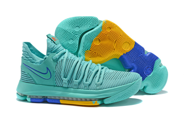 2018 Cheap Nike Kevin Durant 10 X Jade Blue Yellow
