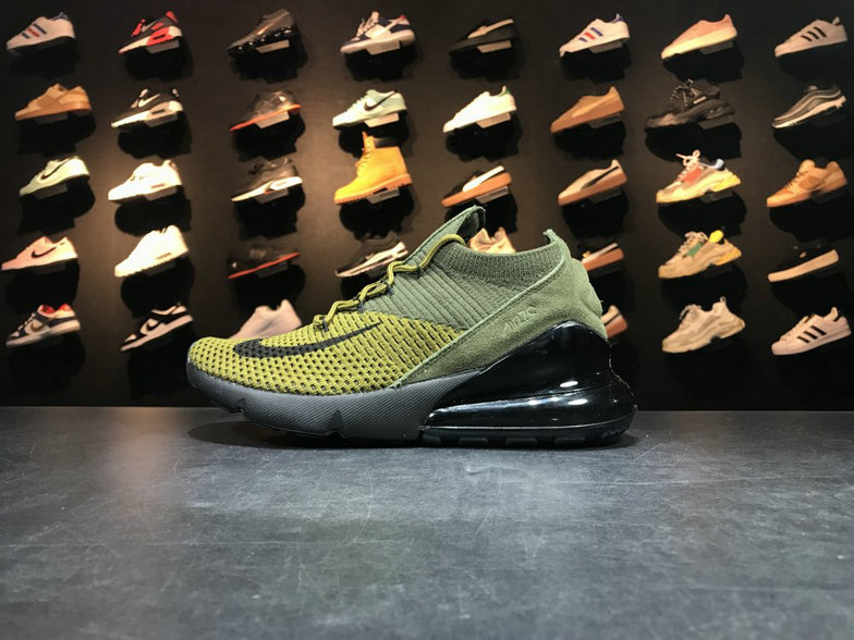 2018 NikeLab Air Max x Cheap Nike Air Max 270 Flyknit Army Green Dark Green-Black Vert Fonce Vert Noir