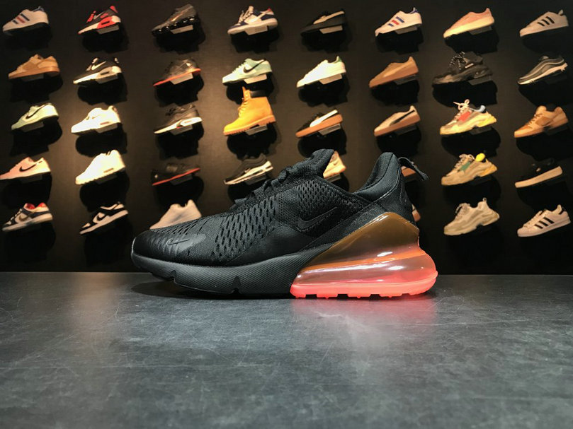 2018 NikeLab Air Max x Cheap Nike Air Max 270 Flyknit Black Orange Red Noir Orange Rouge