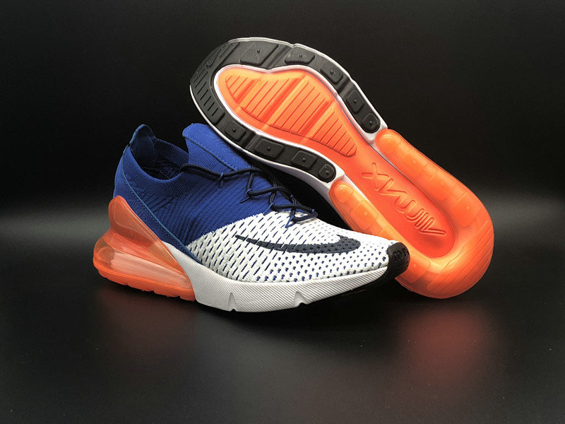 2018 NikeLab Air Max x Cheap Womens Nike Air Max 270 Flyknit White Black-Racer Blue-Total Crimson