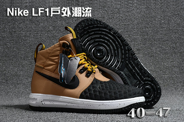 Cheap 2018 Nike Lunar Force 1 DuckBoot Gold Black White
