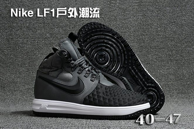 Cheap 2018 Nike Lunar Force 1 DuckBoot Grey Black White
