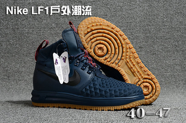 Cheap 2018 Nike Lunar Force 1 DuckBoot Navy Blue Wheat