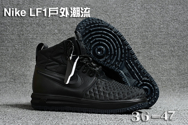 Cheap 2018 Nike Lunar Force 1 DuckBoot Triple Black