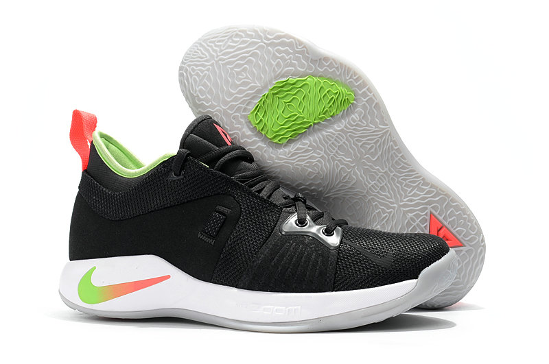 2018 Cheap Nike PG 2  Paul George Black White Red Grass Green