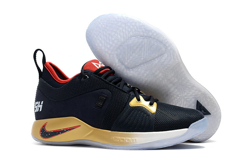 2018 Cheap Nike PG 2  Paul George Gold Black Red