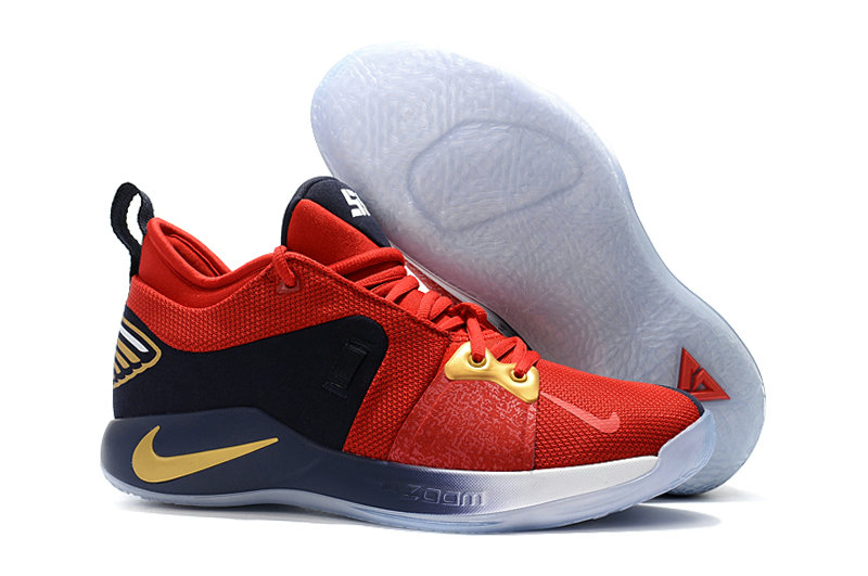 2018 Cheap Nike PG 2  Paul George Red Gold White Black